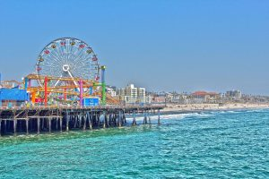 santa monica state beach, california