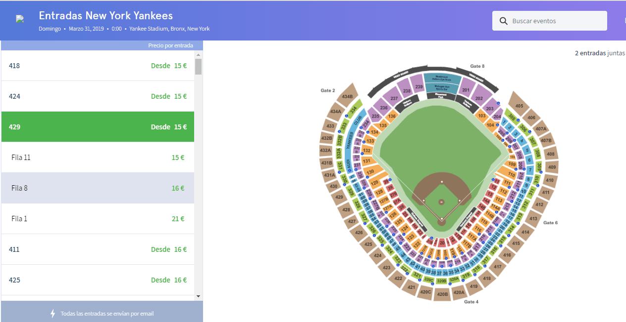 comprar entradas beisbol nueva york