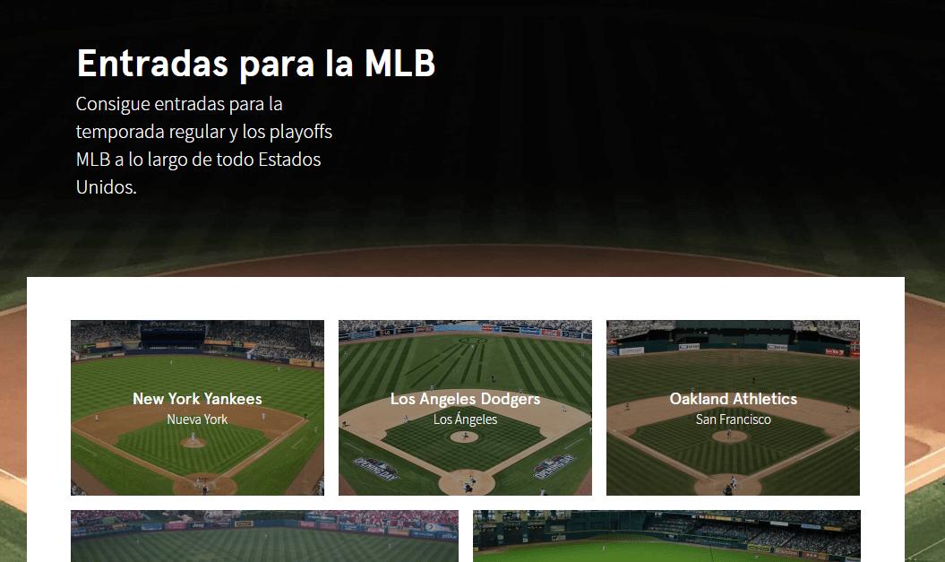 entradas beisbol mlb