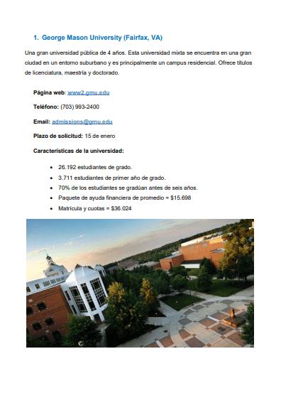 listado universidades 2