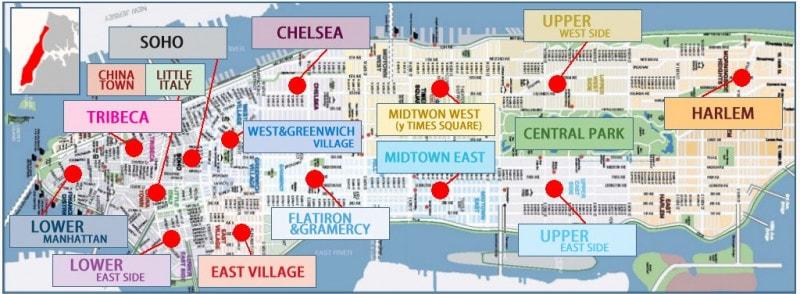 mapas de nueva york